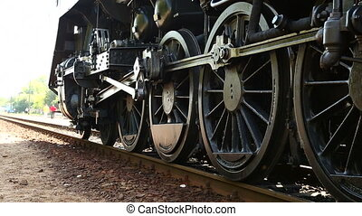 Steam Locomotive - Steam locomotive getting ready on a...
