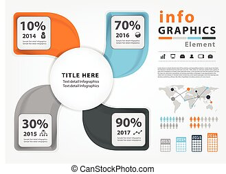 Infographic vector template design