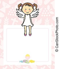 Baby girl with wings