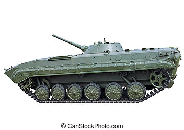 Infantry fighting vehicle on white - An infantry fighting...