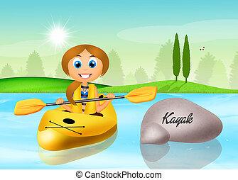 kayak - illustration of kayak