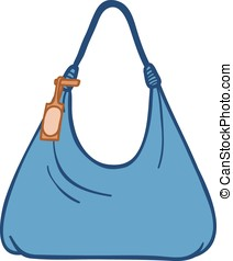 Ladies textile handbag - Cartoon silhouette illustration of...