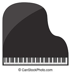 Grand Piano - A grand piano design isolated on a white...