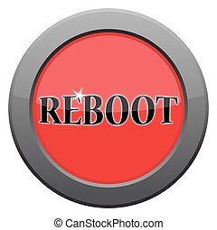 Reboot Dark Metal Icon - A reboot dark metal icon isolated...