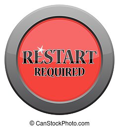 Restart Dark Metal Icon - A restart dark metal icon isolated...
