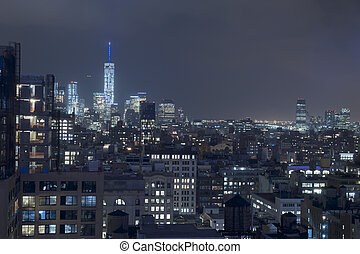 Manhattan New York City Rooftops - Manhattan New York City...