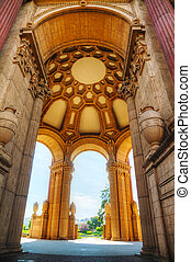 The Palace of Fine Arts interior in San Francisco,...