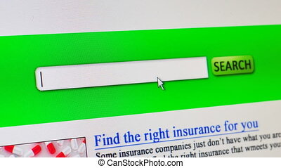 Health insurance - fictional search engine
