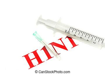Swine FLU H1N1 notice - syringe