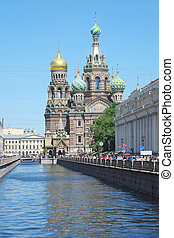 hurch of savior on Spilled Blood in St Petersburg, Russia