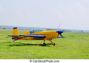 sport propeller airplane - The image of a sport propeller...