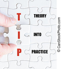 Last puzzle piece with Business Acronym TIP