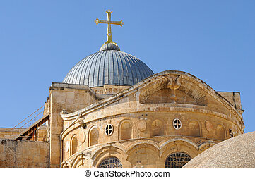 church of the Holy Sepulchre - dome of the Church of Holy...