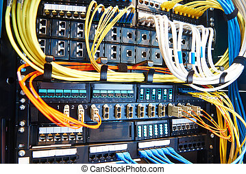 Server room equipment - technology equipment with optical...