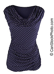 Women's tunic with dots and pleats