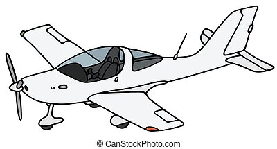 Small propeller airplane - Hand drawing of a small propeller...