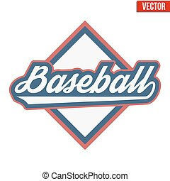 Vintage baseball label and badge. Vector Illustration...