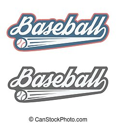 Vintage baseball label and badge Vector Illustration...