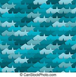 Seamless pattern - Geometric seamless pattern Blue abstract...