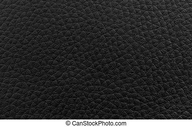 Texture - Black leather texture background close-up .