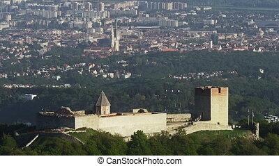 Zagreb Medvedgrad, timelapse - Timelapse shot of Old town...