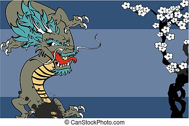 japanese dragon tattoo background1