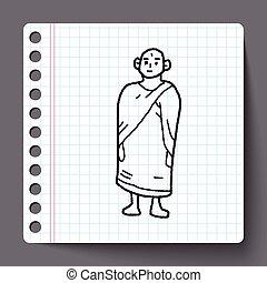 monk doodle