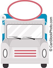 Food Truck Front Blank Sign - Illustration of a Food Truck...