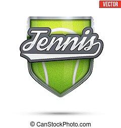 Premium symbol of Tennis label