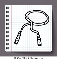 rope skipping doodle