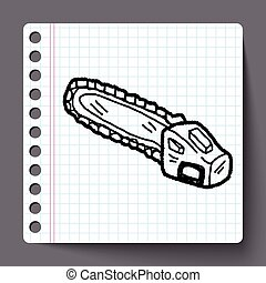 chainsaw doodle