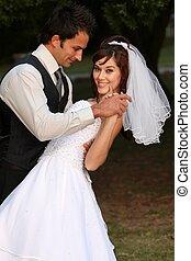 夫婦, 跳舞, 婚禮