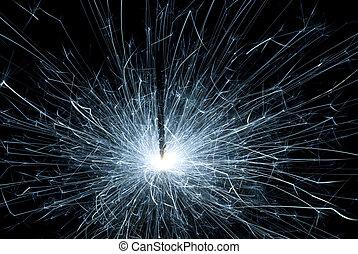 blue sparkler - a blue sparkler on sylvester