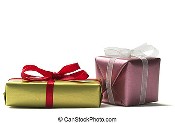 Two little present boxes - Two little present box with...
