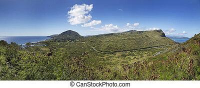 Panoramic Spanning From Kaiwi to Makapuu on Oahu Hawaii -...