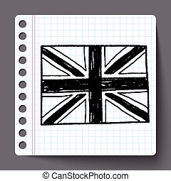UK flag doodle