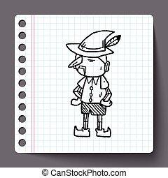 scarabocchiare,  Pinocchio