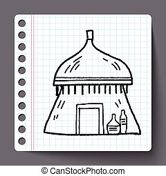African house doodle