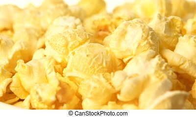 Popcorn, background, close up, rotation - Popcorn and...