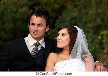 夫婦, 愉快, 婚禮
