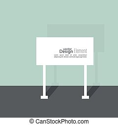 Abstract background with signs. Road sign. Warning. blank...
