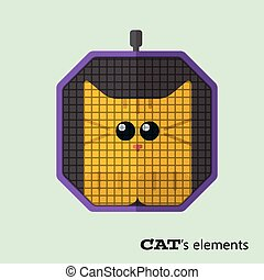 Tabby cat in pet carrier