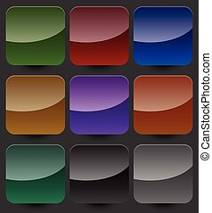 Set of blank button backgrounds in different colors. Vector design elements