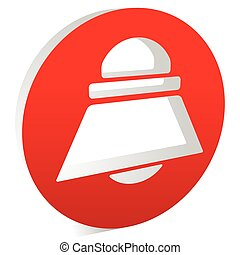 Bell, siren or alarm symbol in a circle, vector icon.