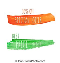 Smear a watercolor painting Discount goods Special offer,...