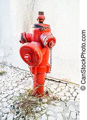 fogo, hidrante,