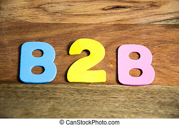 B2B in colorful letters