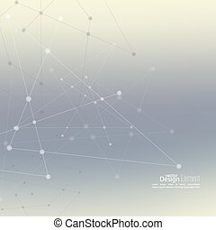 Abstract Background with Dots Array and Lines - Abstract...