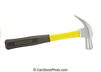 work tool hammer on white background - work tool hammer...