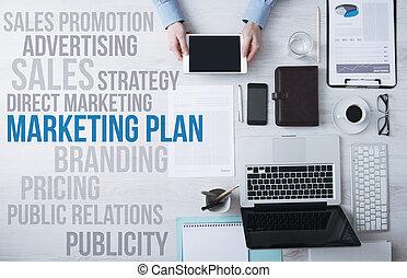 Business, et, commercialisation, concepts, sur, bureau,...